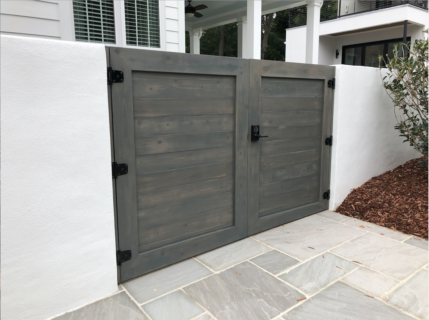 Custom Wood Working privacy gate