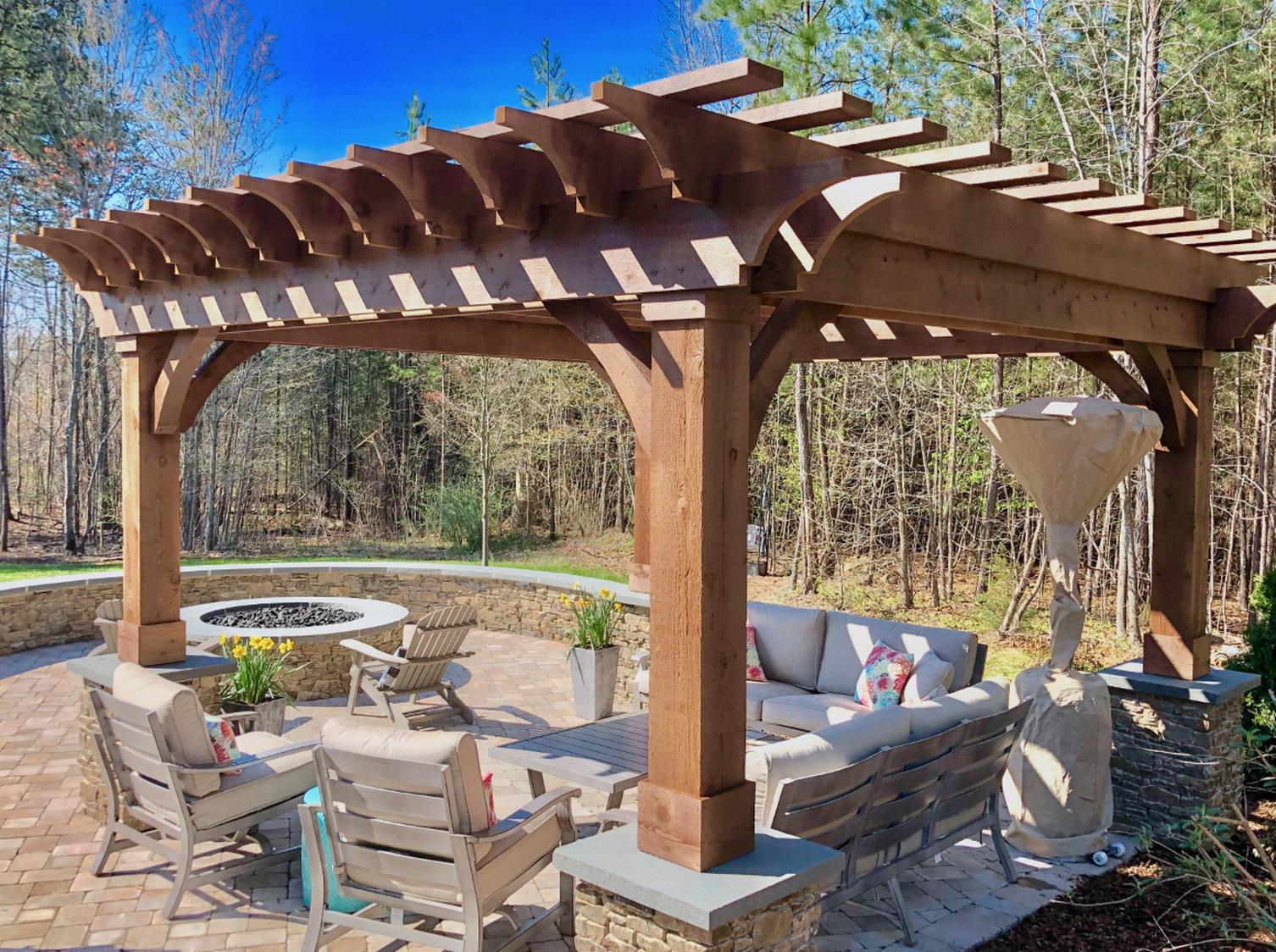 Outdoor Living pergola installation service